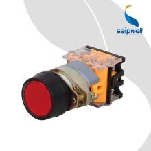 Bouton poussoir certifié CE de Saipwell sur le bouton poussoir industriel du bouton poussoir IP65 22mm
