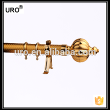best quality 35mm golden paper iron curtain rods