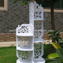 New Material, waterproof WPC white baroque shelf
