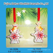 Monkey series christmas hanging ornament with snowflake design