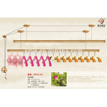 Szone flower series surface plating aluminum drying rack hanger with hand control