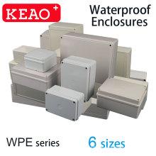 8 Größen IP67 PC ABS-Kunststoff flammhemmender Kabelanschlusskasten einzigartiges wasserdichtes Gehäuse versiegeltes Gehäuse Schaltkastengehäuse