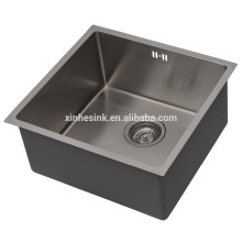 Handmade R10/R15/R19 Stainless Steel Kitchen Sink, Stainless Steel SUS 304 Gauge 16/18