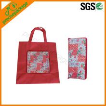 sac à provisions non tissé pliable avec zip pour la promotion sur alibaba