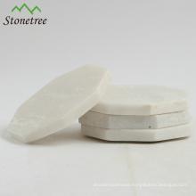 Wholesale Handmade Regular Hexagon Table Mat White Marble Coasters