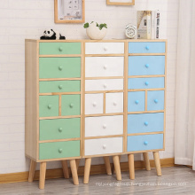 modern paul solid wood storage decorative chests cabinet with drawers