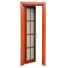 China Factory Manufacturing Frosted Glass Aluminum Bathroom and Room Doors (FT-D80)