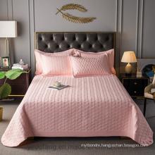 Luxurious Hotel Bedspread Full Size Light Pink All-Season