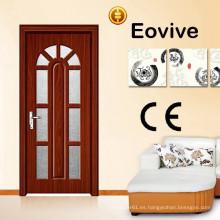 venta caliente nuevo diseño vidrio puerta de madera