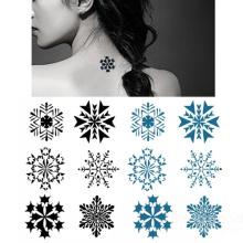 Последний тату, длительный Снежинка татуировки дизайн отклейте стикер