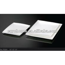 Vajilla para hoteles y banquetes: platos para comidas de porcelana P0291