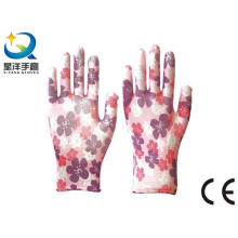 Садовые перчатки, полиэфирная оболочка с покрытием из нитрила, перчатки для безопасной работы с Ce, En388 (N6051)