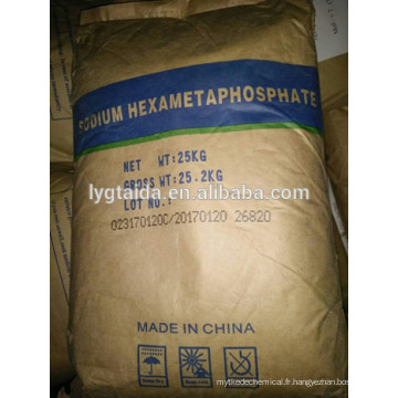 SHMP - Hexametaphosphate de sodium, tétrapolyphosphate de sodium