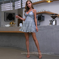 Weixin New Style Shein Womens Clothing Sexy Dresses Women Elegant Knitted Deep V Backless Lace Casual Dresses