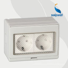 Connecteur de prise de courant alternatif 3pins d'alimentation d'énergie monophasé 230V