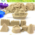 Arena mágica a granel al por mayor para los niños que juegan jugando la arena dinámica de la arena que se mueve
