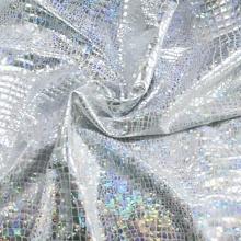 Swimwear Spandex Rhinestones Hologram Foil Beachwear Fabric