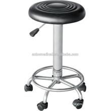 high quantity hospital revolving stool with wheels