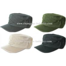 Color sólido en blanco algodón cepillado cabido sombrero plano