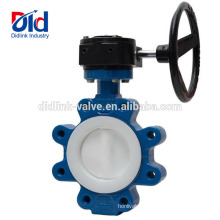 Ductile Iron China Us Lug And Wafer Type Function Application Fully Coated Ptfe Butterfly Valve 3 Inch