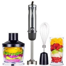 Potente batidora de inmersión Batidora de mano multiusos Incluye un procesador de alimentos de 500 ml Vaso de mezcla de 600 ml y batidora batidora