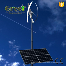 Wind Solar Hybrid Power System with Vertical Axis Turbine