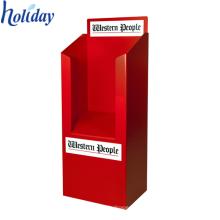 Exposição ondulada personalizada do escaninho da descarga do suporte do cartão do dispositivo elétrico da loja para a promoção