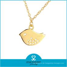 Echtes 925 Sterling Silber 24k Gold Halskette (N-0303)