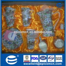 wholesale royal Mid-east design fine bone china dinner set, coffee set flower tea cup and saucer, creamer and sugar pot