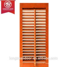 Factory Custom Vertical Panel Louver Wooden Doors with Manual Shutter Regulator, Adjustable Shutter Wooden Doors                                                                         Quality Choice