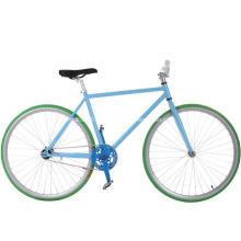 Vélo à roues fixes en acier coloré pour filles
