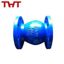 La calidad de los extremos bridados aseguró la válvula de retención del flotador de bola de pvc DN50-DN600