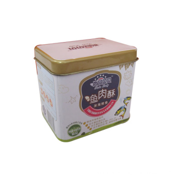 Big Square Metal Cookie Tin Gift Box