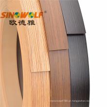 Faixa de borda de PVC para placa de MDF 0,35-3,0 MM