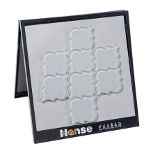 120X100 Types Clear Glass Mosaic Arabesque Lantern Tile Backsplash