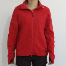 Bright Red 4-Way Stretched Fabric Waterproof Raincoat for Adult Woman