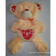 Bear Skin Heart Stuffed Plush Animal Plush Toy