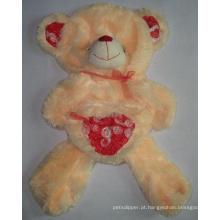 Coração de pele do urso pelúcia animal pelúcia brinquedo