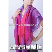 Fashionable 100%wool scarf/shawl