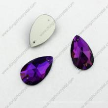 Китай Оптовая красочные плоской задней форме капли шить на камнях