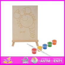 2014 nouveau jeu enfants en bois Kit de peinture, pas cher enfants bricolage kit de peinture en bois jouet, éducatif bébé jouet en bois Kit de peinture W03A049