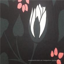60 * 60 tecido de popeline impresso 100% algodão preto quente