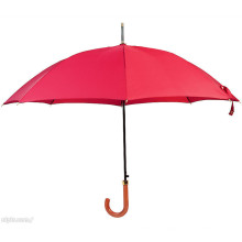 Auto Open Red Farbe Holz Griff Straight Umbrella (BD-22)