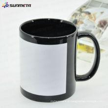 Melhor preço 11oz sublimação caneca de cerâmica com remendo branco Yiwu Sunmeta fabricante