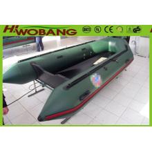 Bateau de sauvetage de PVC gonflable militaire vert armée