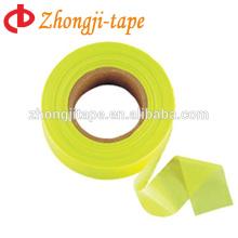 lime pvc flagging warning tape