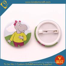 Emblema do botão da lata no logotipo do hipopótamo de China