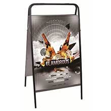 Exposição móvel exterior do cartaz do pavimento benner para anunciar