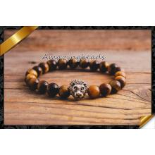 Bracelets à bijoux pour oeils de tigre pour la fabrication de bijoux en bricolage (CB059)