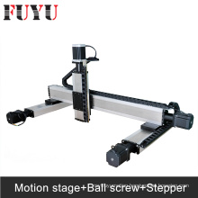 Ball screw motorized linear xy table nema34 linear stage with stepper motor